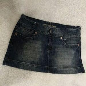 AE denim mini skirt